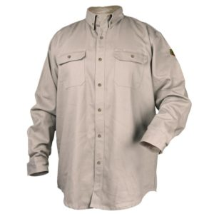 Black Stallion WF4010-ST 7 oz. 88/12 Flame-Resistant Work Shirt