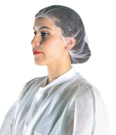 A1918W White Nylon Hair Nets  (100CT)