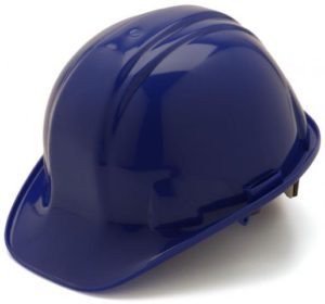 Blue Hard Hat with 6 Point Pinlock Suspension