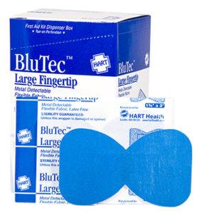 Blue Non-Metal Detectable Finger Tip Bandage 25ct.