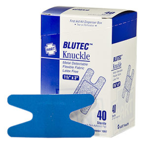 Blue Non-Metal Detectable Knuckle Bandage 50ct.