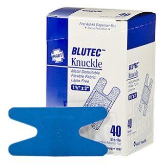Blue Metal Detectable Knuckle Bandage 50ct.
