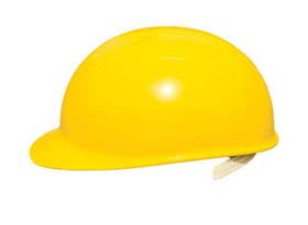 Bump Caps - Bump cap w/ yellow shell, suspension & vinyl brow pad