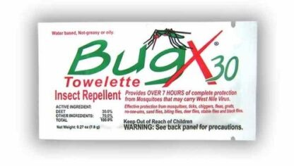 Coretex 10654 BugX30 Insect Towelettes 100 ct.