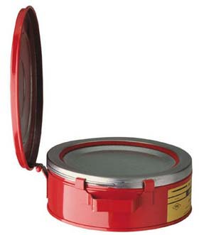 Justrite 10295 Bench Cans - 2-Qt. steel bench can