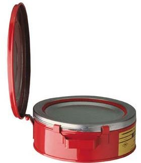 Justrite 10175 Bench Cans - 1-Qt. steel bench can