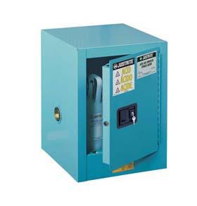 Sure-Grip EX Steel Countertop Cabinets for Corrosives - 4-Gal. cabinet w/ 1 manual close door