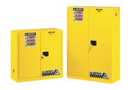 Justrite 896000  Sure-Grip EX Safety Cabinets for Flammables - 60-Gal. cabinet w/ 2 manual close doors