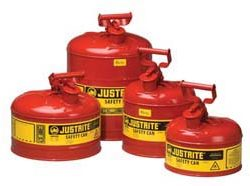 Safety Cans - 5-Gal. steel safety can w/ funnel