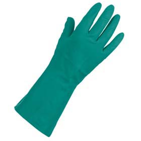 Nitrile Reusable Chemical-Resistant Gloves - Nitrile gloves, unlined, 15-mil