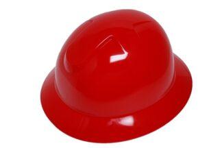 DURASHELL FULL BRIM 6 POINT PINLOCK SUSPENSION RED HARD HAT
