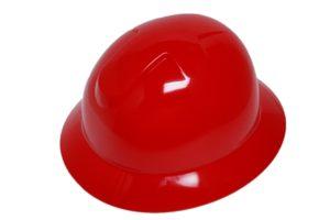 DURASHELL FULL BRIM 6 POINT RATCHET SUSPENSION RED HARD HAT