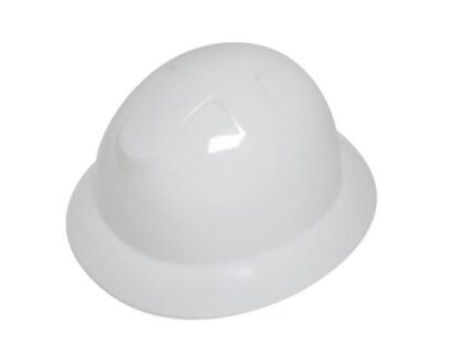 DURASHELL FULL BRIM 6 POINT RATCHET SUSPENSION WHITE HARD HAT