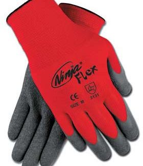 MCR N9680 Ninja Flex Latex-Coated Gloves, Dozen