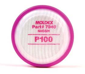 Moldex 7940 P100 Replacement Cartridges 2pk