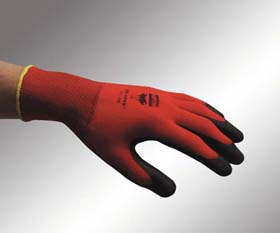 NorthFlex Red Foamed PVC Palm-Coated Gloves - Foamed PVC palm-coated gloves