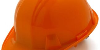Orange Hard Hat with 6 Point Pinlock Suspension