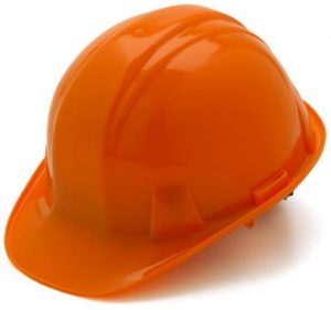 Orange Hard Hat with 6 Point Pinlock Suspension