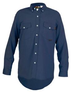 MCR S1N FR Navy Blue Work Shirt