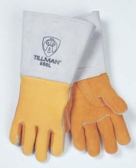 John Tillman Company 850 Stick Gold top grain elkskin welders gloves