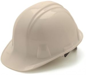 White Hard Hat  with 6 Point Racthet Suspension