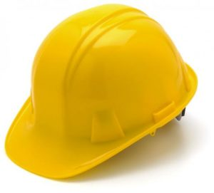 Yellow Hard Hat with 6 Point Racthet Suspension