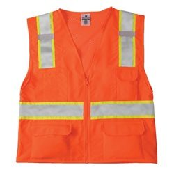 Economy Solid front Mesh Back ANSI Class 2 Vest